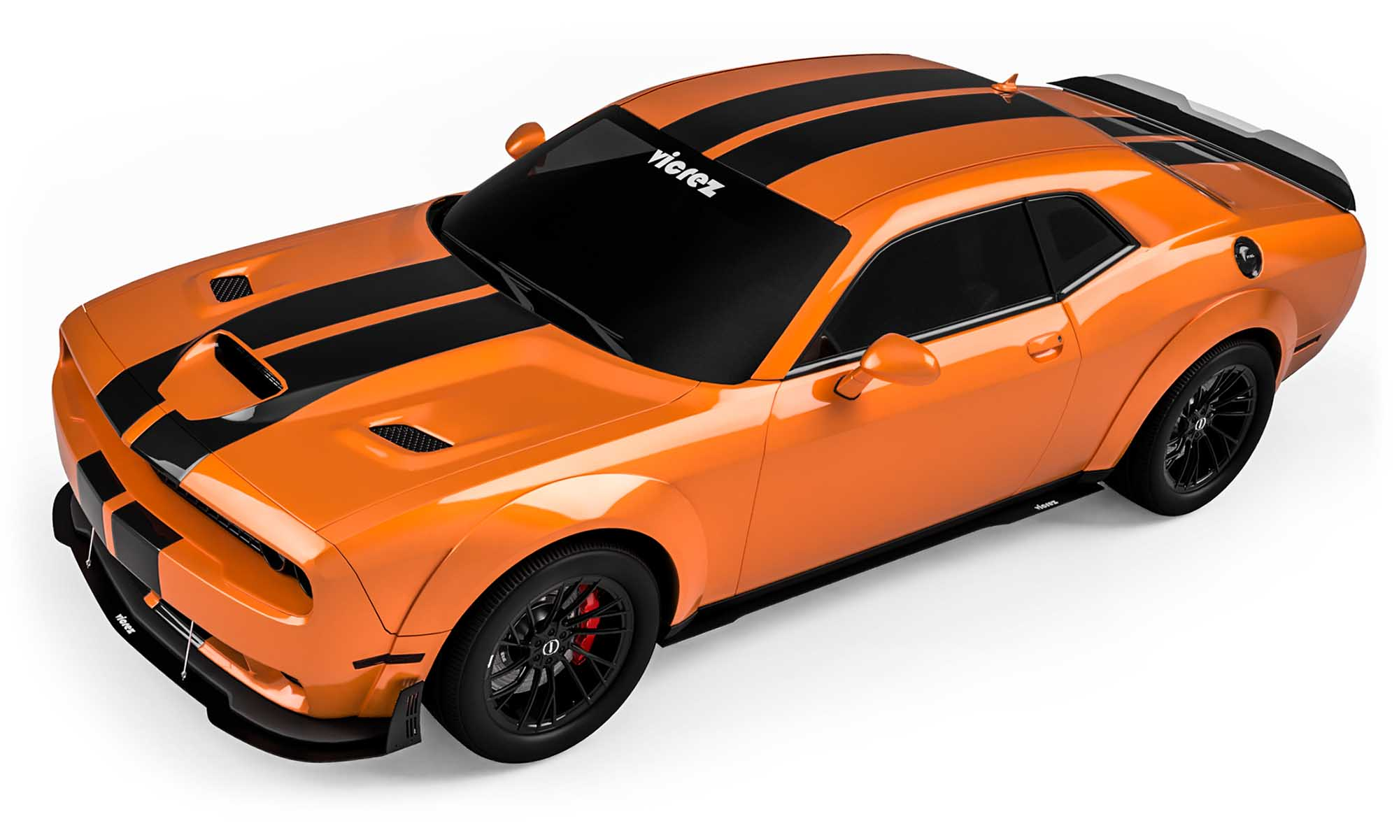 Vicrez Dodge Challenger SRT Hellcat 2015-2018 VZ Style Side Skirt Splitter vz100662