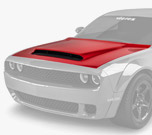 Vicrez Hood W/ Air Vent Scoop Demon Style vz102129 | Dodge Challenger 2008-2020