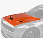 Vicrez Hood W/ Air Vent Scoop Hellcat Style vz102128 | Dodge Challenger 2008-2021